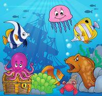 Underwater ocean fauna theme 8 - picture illustration.