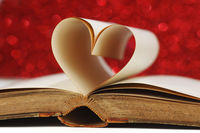 Heart inside a book