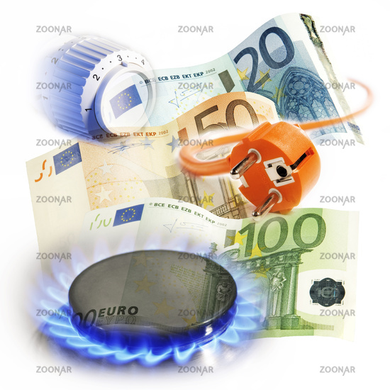 Symbol photo energy costs