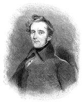 Alphonse Marie Louis Prat de Lamartine, 1790 - 1869, a French poet