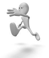 rennende cartoonfigur - 3d illustration