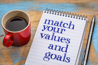 Match your values and goals