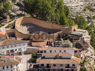 Overview of Alcala del Jucar in Castilla-La Mancha, Spain