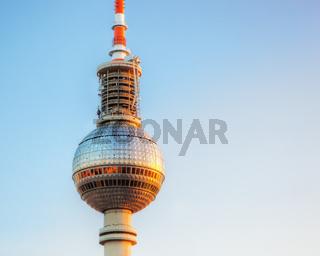 Tv tower or Fersehturm in Berlin, Germany