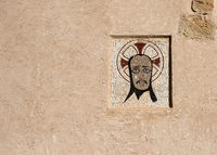 Ancient mosaic icon. Santa Barbara castle in Alicante city. Spain