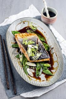Salmon Teriyaki with Vegetable