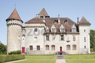 Castle of Clermont (fr.Château de Cléron). Region Franche-Comte, France.