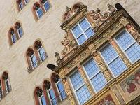 Hildesheim - Tempelhaus with bay window
