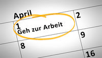 go to work day 1st of april in german language