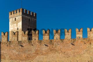 Battlements in Castelvecchio of Verona