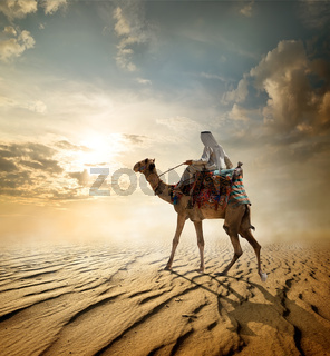 Journey through desert