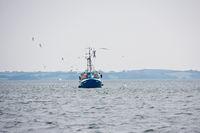 Trawler on the Baltic Sea