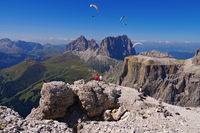 Sella Gruppe in Dolomiten - Sella group in Dolomites