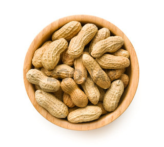 dried peanuts in bowl