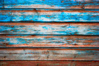 Weathered blue painted grunge wood texture