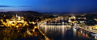 Budapest, Hungary. View from Gellert Hill