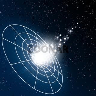 Schwarzes Loch und Sterne