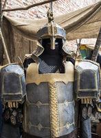 Fantasy medieval metal armor protective wear swordman