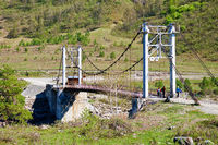 Oroktoi bridge over Altai river Katun
