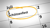 shooting festival first of July in german language