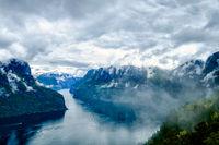 Beautiful Hardanger fjorden Nature Norway.