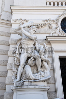 Statue of Hercules at the Hofburg Palace, Vienna