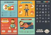 Fast food flat design Infographic Template
