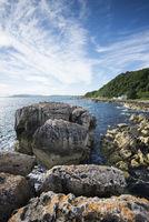 Limestone rock on the Garron point