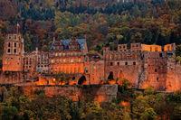 Heidelberg Castle in the evening