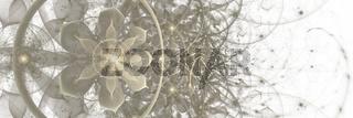 Fraktal Illustration Blüten