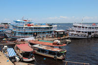 Boats at Terminal Ajato in Manaus