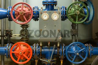 Heizungsanlage in einem alten Thermalsolebad, Bad Soden