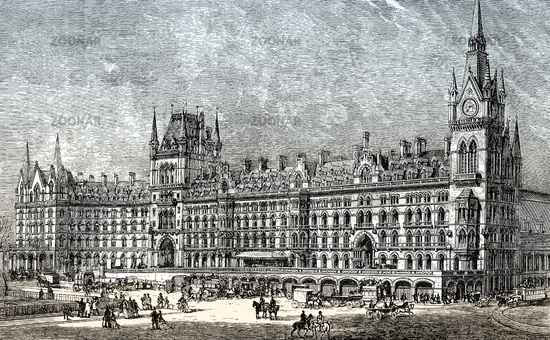 St Pancras Railway Station 19th Century London England