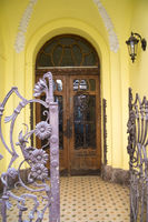 House entrance in Budapest, Hungary