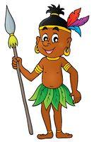 Aborigine theme image 1 - picture illustration.