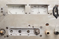 old analogue voltmeter and amperemeter