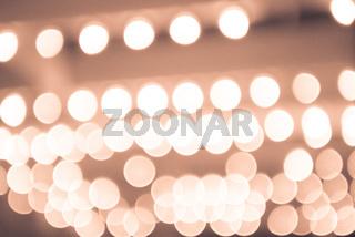 Lights blurred bokeh background in night city street