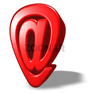 emailsymbol im cartoonstyle auf weißem hintergrund - 3d illustration