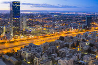 Tel Aviv Cityscape at Sunset