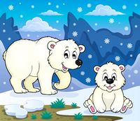 Polar bears theme image 3 - picture illustration.