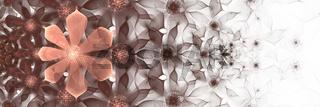 Fraktal mit Blüten