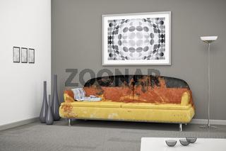 German flag sofa