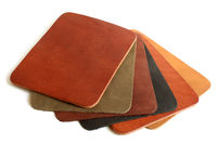 Natural variegated leather