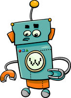 comic robot cartoon character
