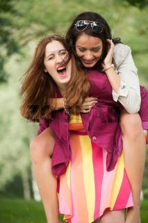 2 woman having a nice time