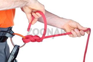 Nahaufnahme eines Sicherungsknotens