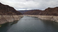 Hydroelectric Generators on the border of nevada and arizona , black canyon