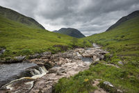 The River Etive in Glen Etive in Glen Coe in the Scottish Highlands