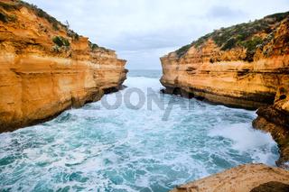 high rock in sea