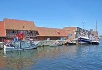 Harbor of Wismar,baltic Sea,Mecklenburg Western Pomerania,Germany